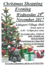 Christmas Shopping Evening - 29th November