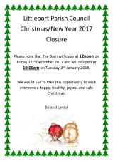 Christmas Closure - 2017