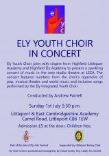 Ely Youth Choir In Concert - 1st July 2018