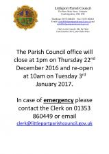 Christmas Office Closure