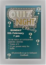 Foodbank Quiz Night
